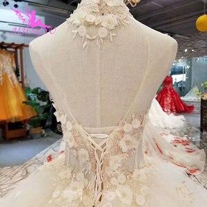 Image 3 - Платье с длинным шлейфом AIJINGYU, винтажное платье в стиле бохо, кружевное свадебное платье для невесты, индийское длинное платье с открытой спиной, античные свадебные платья