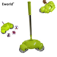 Eworld Household Hand Push Magic Automatic Sweeping Robot Vacuum Cleaner Without Electricity Broom Dustpan And Trash