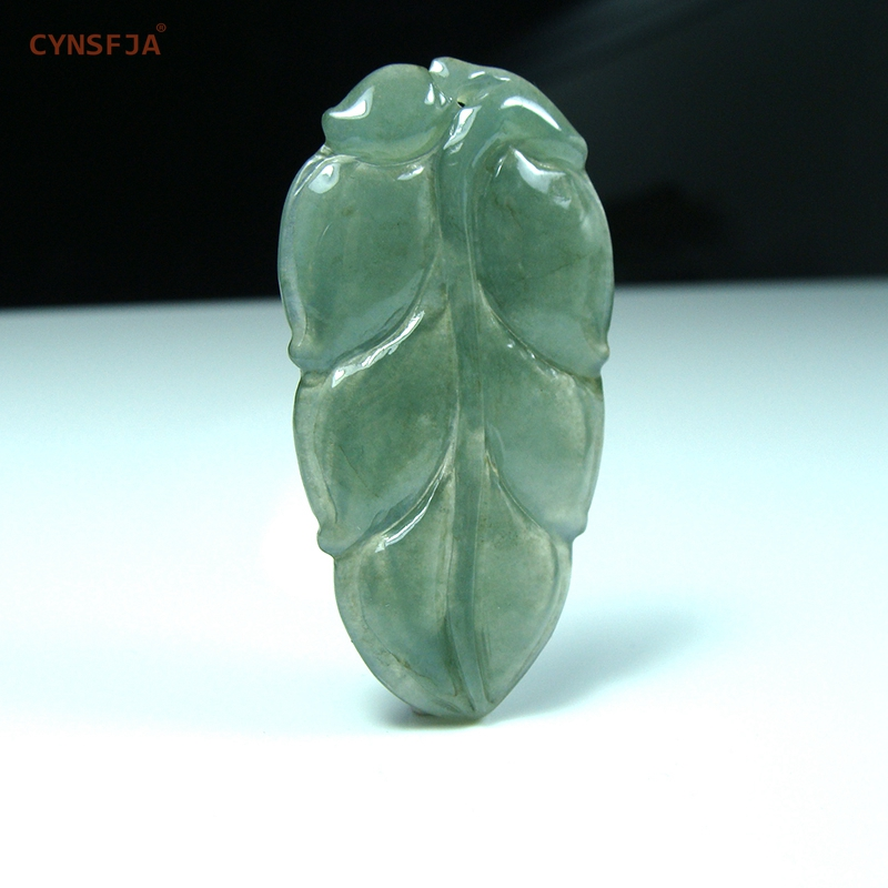 Certified Natural A Grade Burmese Emerald Jadeite Charms Lucky Career Jade Pendant Ice Green High Quality Hand Carved Good Gifts in Charms from Jewelry Accessories