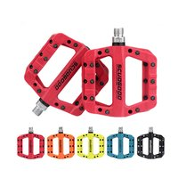 High Quality New Mountain Bike Nylon Fiber Bearing Pedal Anti skid Pedal Ultra light Ankle Pedal Bicycle Equipment Accessories