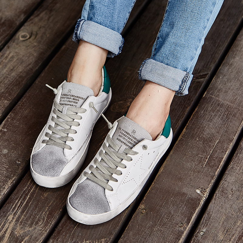 db7d769920b059 Italy Golden Goose Shoe Leather Goose Korean sneakers Men casual shoes All  Star Shoes Footwear zapatos de hombre men s flats -in Men s Casual Shoes  from ...