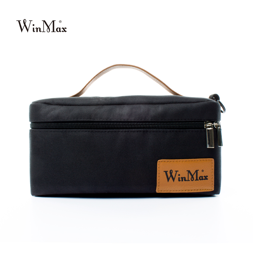 Winmax small picnic lunch bag black for women ice cooler business luncn box food thermal bag