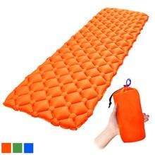 Outdoor Camping Mat Nylon TPU 192*60*5.5cm Air Mattress Ultralight Inflatable Bed For Hiking Picnic Beach Tent Sleeping