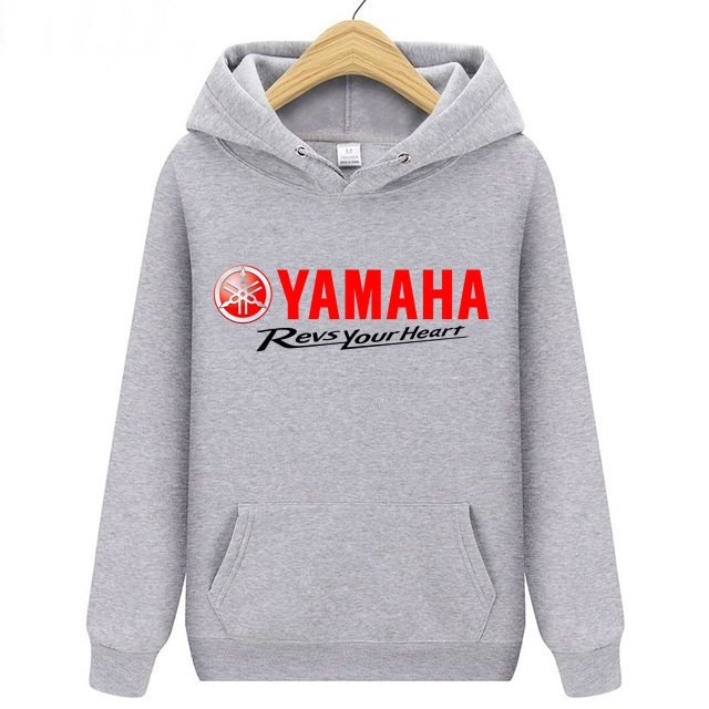 Yamaha Logo Men's Hoodie Sweatshirt Men/women Hiking Hooded Pullover Youth Boy Skateboard Sportwear Revs Your Heart Jersey