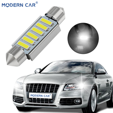 MODERN CAR 2pcs C5W LED C10W Canbus 31mm 36mm 39mm 41mm Error Free Super Bright 7020 4SMD 6SMD Reading Dome Lamp White 5500K