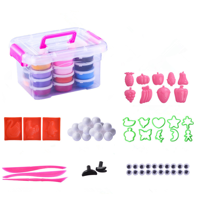 24 Color/set Light Clay Air Dry Polymer Plasticine Modelling Clay Super Light DIY Soft Creative Educational Play Dough Toys
