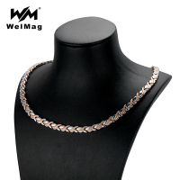 WelMag 2019 New Women's Stainless Steel Necklaces Femme Therapy Strong Magnetic Necklace for Health Fish Design Silver Rose Gold