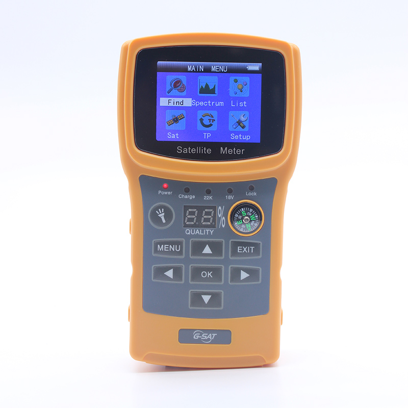 SF-710 Satellite Finder For Satellite TV Receiver Color Display DISEqC1.0 With USB/Compass Satellite Meter Support DVBS/DVBS2