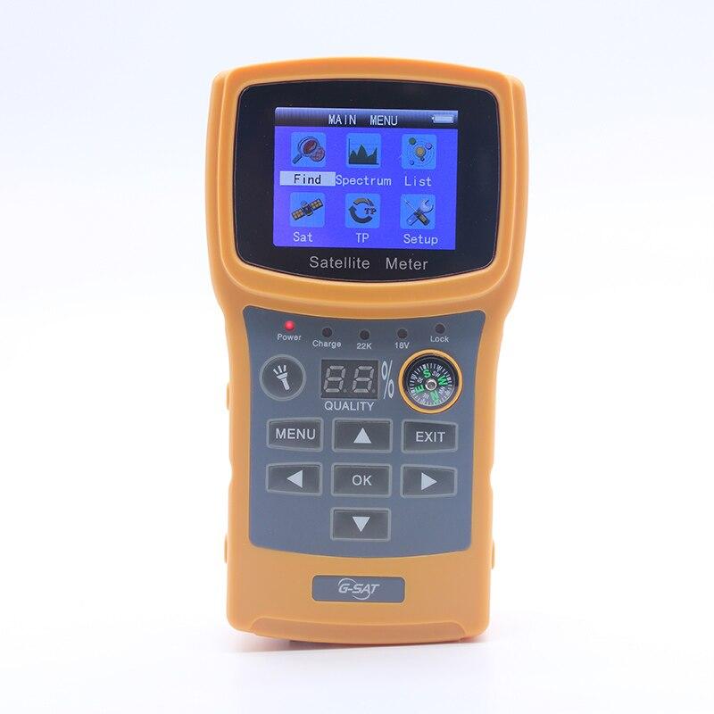 SF-710 Satellite Finder Pour Satellite TV Récepteur Couleur Affichage DISEqC1.0 Avec USB/Boussole Satellite Mètre Soutien DVBS/DVBS2