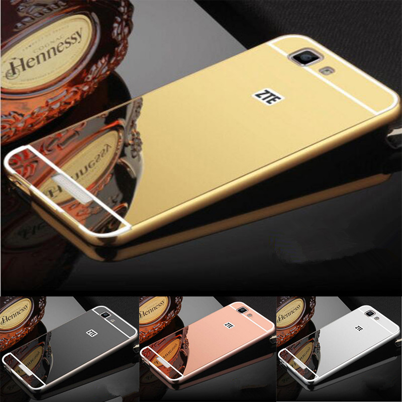 Luxury Gold Plating Aluminum Metal Mirror Case For ZTE Blade A610 Phone Case Back For ZTE A610 Blade A610 A 610 Case