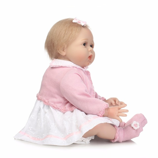 55cm Silicone Reborn Girl Baby Doll Toy Like Real