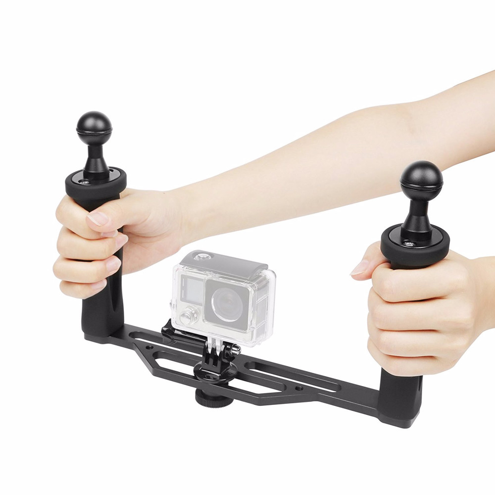 handheld stabilizer for dome port & gopro Hero 4s/4/3/2/1 Aluminium Alloy Handheld Stabilizer Tray Handle Grip шляпа bailey bailey mp002xw15kze page 1