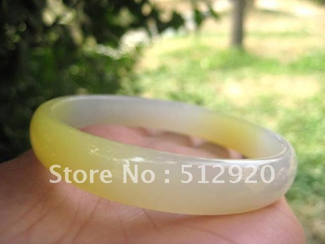 White Yellow agate bangle,great young color for lady