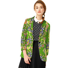 Custom Women Retro African Blazer Female Fashion Pattern Printed Suit Outwear Outfits Lady Dashiki Clothes