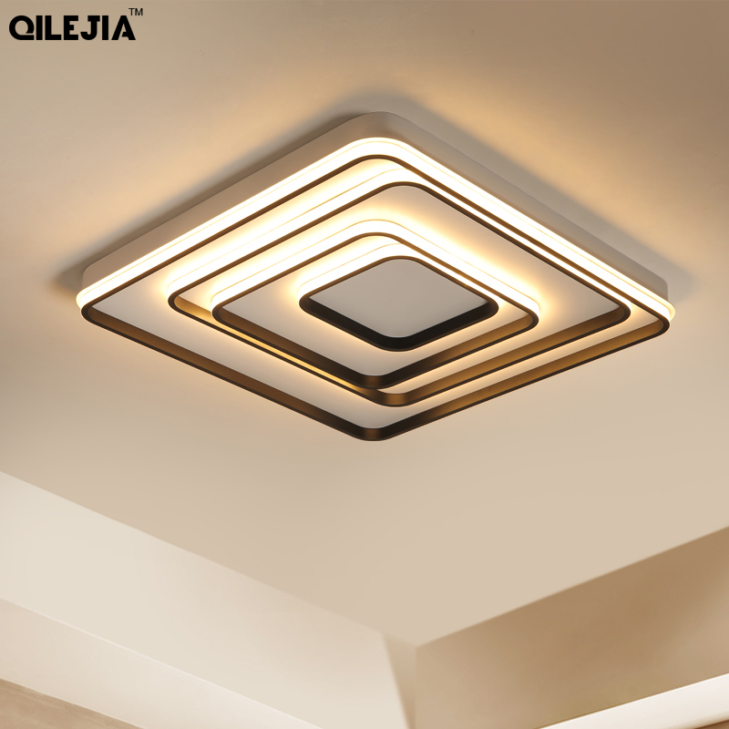 Remote control living room restaurant indoor light led ceiling lights luminarias para sala dimming ceiling lamp
