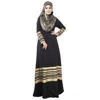 Fashion Women Lady Kaftan Abaya Jilbab Islamic Muslim Long Sleeve Maxi Dress
