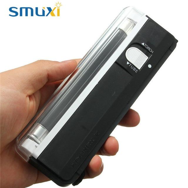 Batteriebetriebene V Detektor Us4 Uv Lichtschlauch Taschenlampe Beweglicher Handheld Lampe 99smuxi 2in1 6 Blacklight Blinkende In Geld 8nwP0kO