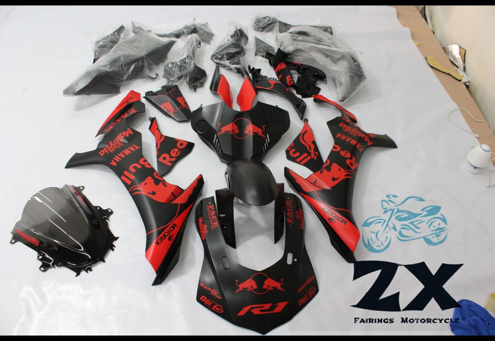 Complete Fairings Injection Motorcycle Fairings For Yamaha YZF R1 15 16 YZF-R1 2015 2016 Complete Fairing Kit Cowlings New suk17 motorcycle fairings for yamaha yzf r1 1000 yzf r1 yzf r1000 2009 2010 2011 abs plastic injection fairing bodywork kit gray