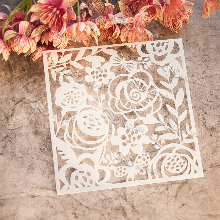 flower plastic layering stencil for pastel paint tool,painting color spray brush,stamp on art supplies template drawing set jianwu 1pc cute creative lace ruler stencil painting diy decoration hollow template painting tool pp scrapbook manual supplies