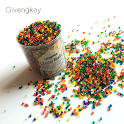 10000pcs/bag orbeez crystal soil Hydrogel water paintball gun bullet grow water beads grow balls water gun toys mix colored