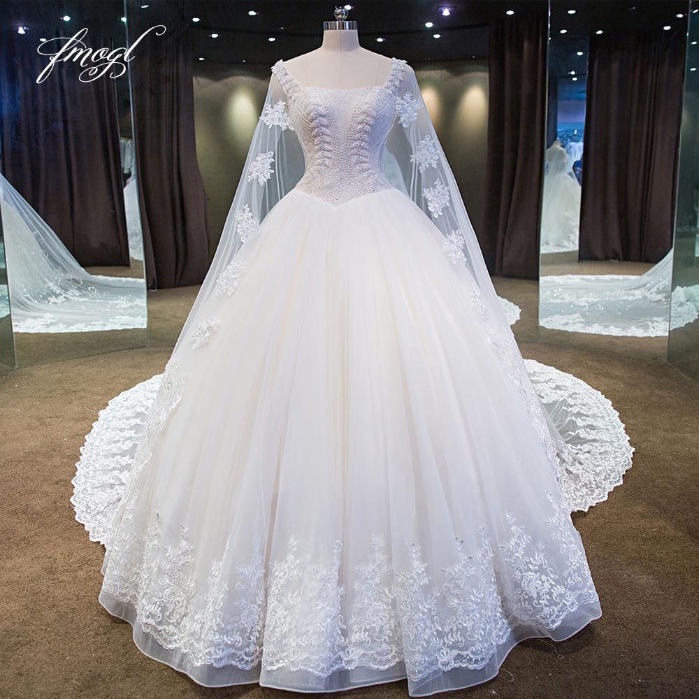 Wedding Gown Veil: Fmogl Luxury Strapless Ball Gown Wedding Dresses 2019