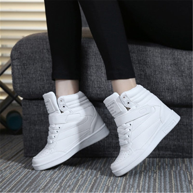 Women shoes spring autumn comfortable black white pink outdoor anti-skid sneakers jogging adults Cotton boots