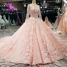 AIJINGYU длинное белое свадебное платье es Бальные платья в Турции Королевский бюджет Тюлевое мусульманское платье большого размера свадебное платье