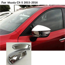 car decoration back rear view Rearview Side Door Mirror Cover stick trim frame part 2pcs For Mazda CX-5 CX5 2013 2014 2015 2016