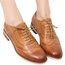 Women casual shoes women shoes for women ladies genuine shoes 2016 new style dress oxford shoes