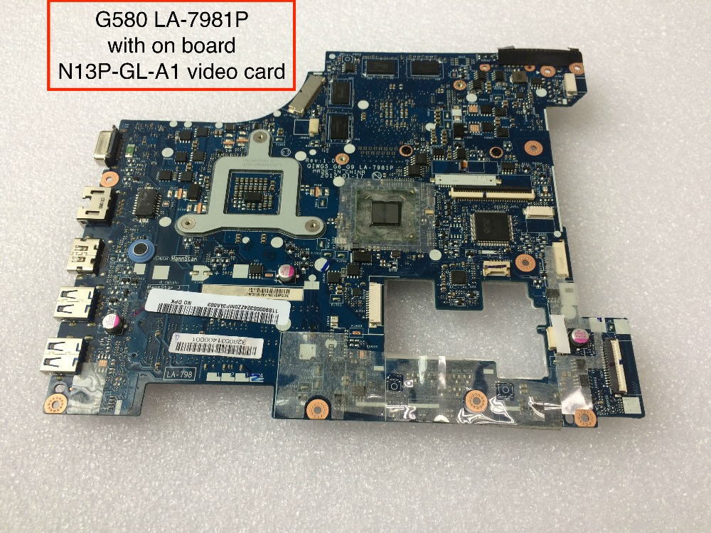 Original & New For Lenovo G580 QIWG5 LA-7981P Laptop Motherboard With Nvidia N13P-GL-A1 video card laptop motherboard for lenovo ideapad g580 qiwg5 g6 g9 la 7981p 71jv0138003 hm76 nvidia gt630m ddr3