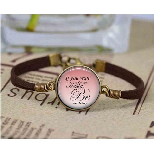Us 143 40 Offleo Tolstoi Armband Angebot Wenn Sie Glücklich Sein Werden Literarischen Armband Gedicht Poesie Kunst Literatur Jewerly Armreif In