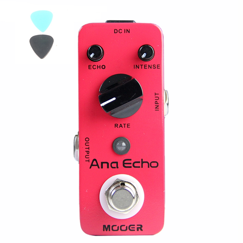 MOOER Micro Ana Echo Smooth Analog Delay Sound Effect Compact Pedal True Bypass Guitar Accessories mooer ninety orange micro analog phaser electric guitar effect pedal true bypass with free connector and footswitch topper