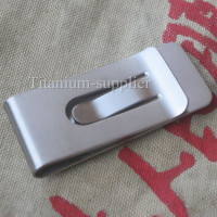 TIREMET Ti Titanium Money Clip Double Deck Credit Card Clip Holder EDC Tool
