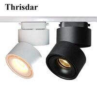 Thrisdar 7W 10W 12W COB Led Track Light 360 Degree Rotation LED Ceiling Lamps Rail Track light Backdrop Track Rail Spotlights