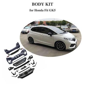 PP Full Body Kit Splitter Side Skirt Fender Spoiler Headlight Air Block Out For Honda FIT GK5  2014-2018