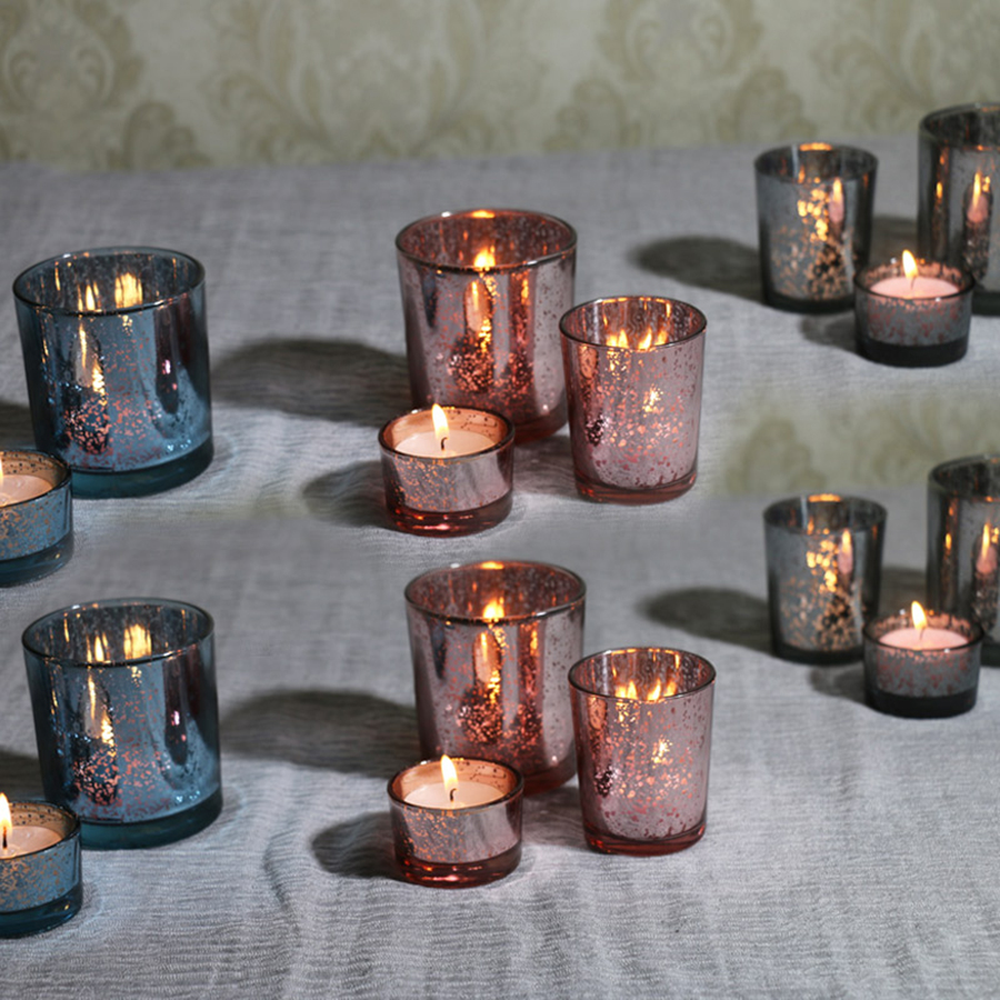 Creative Glass Candlestick Party Candle Holder Birthday Holders Velas Decorativas Scented Candles Tea Home 50X026 In From
