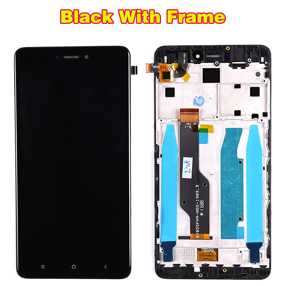 HTB1PT9aPAvoK1RjSZFwq6AiCFXa2 Lcd display for Xiaomi Redmi Note 4 Global / Note 4X (CPU:Snapdragon 625) touch screen digitizer Assembly Frame 10 Multi-Touch