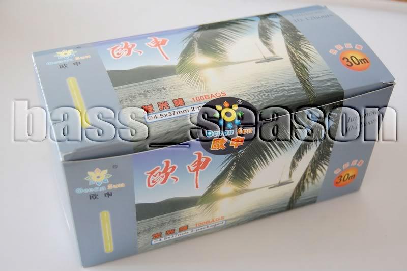 Ocean Sun 200pcs Chemical Light Fishing Fluorescent Glow Stick Dia:4.5X37mm