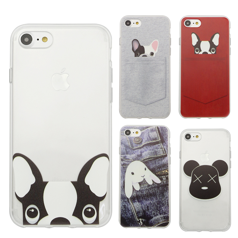 Krásné pouzdro pro telefon s párem zvířat pro iPhone 5 5s SE 6 6s 6 Plus 6s plus 7 7Plus Malované TPU Soft Pouzdro