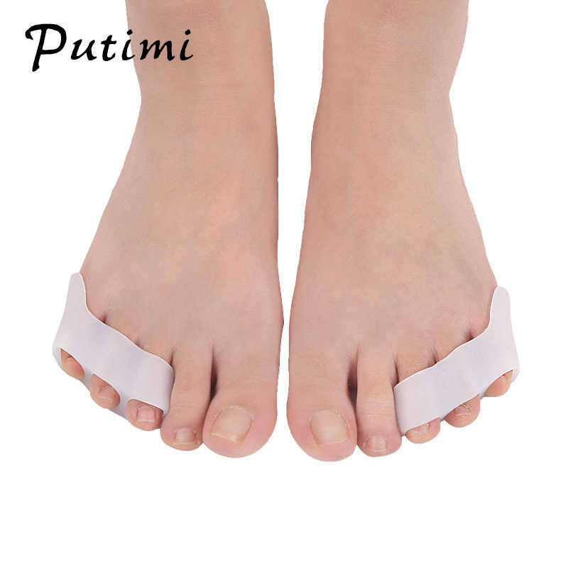 PUTIMI 1 คู่ซิลิโคน Toe Protector Bunion Corrector Pedicure Foot Care เครื่องมือ Toe Straightener Splint Hallux Valgus Corrector Toe