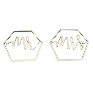 Image 4 - Wood Chair Banner Chairs Sign DIY Wedding Decoration for Engagement Wedding Party Supplies Bride&Groom/Mr&Mrs/Better&Together