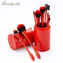 Х новый красный макияж кисти комплект косметический фонд Кубка тыквенных глаз кисти 10 шт набор инструментов
