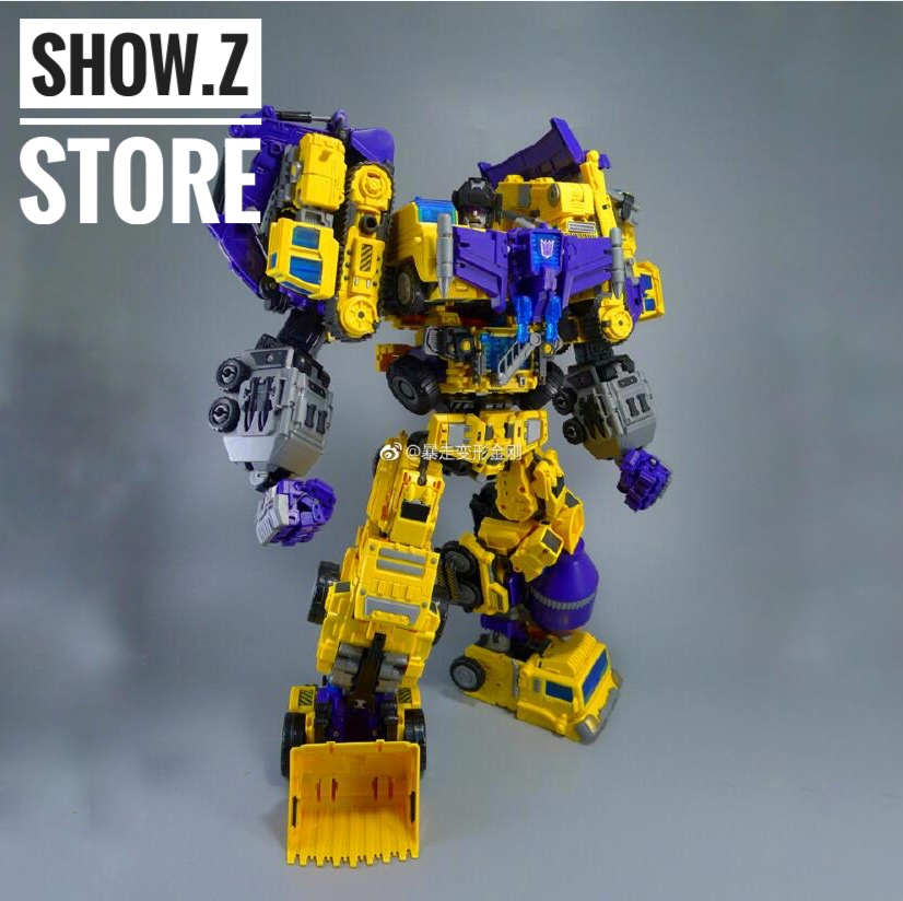 [Show.Z Store] NBK Devastator TF Engineering Full Set of 6 Yellow Version Transformation Action Figure [new] 6 in 1 in stock nbk 01 06 hook action figure robot ko version gt scraper of devastator action figure toysoutdoor beach