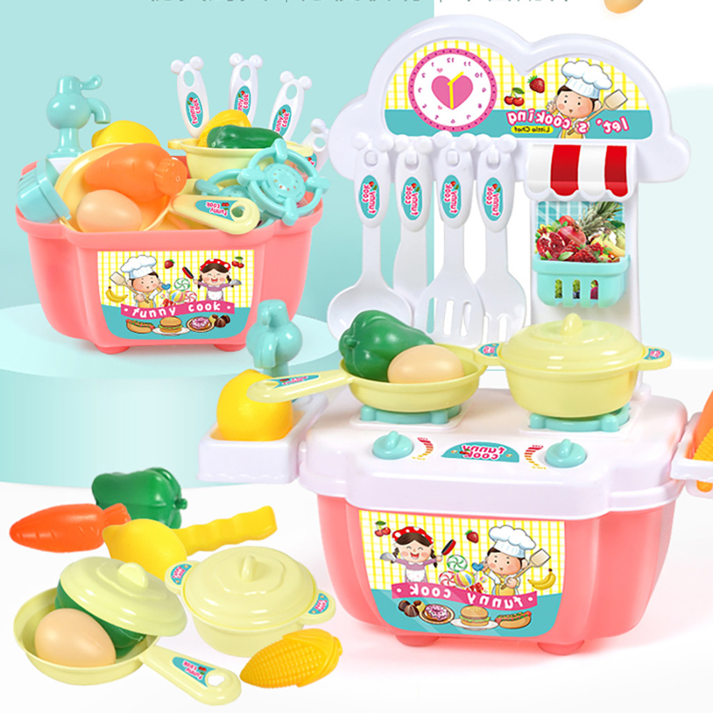 1 Set Boy Girl Toys Role Play Mini Simulation Kitchenware Tableware Cookware