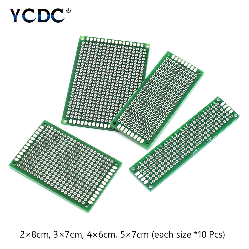 Detail Feedback Questions About 40 Pieces Double Side Pcb Diy Electronic Projects Circuit Board Prototype Proto Breadboard Tin Plated For