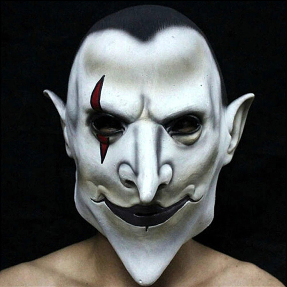 Cosplay Hellboy Latex Mask Halloween Carnival Party Horror Adult ghost Mask Headgear costumes for men