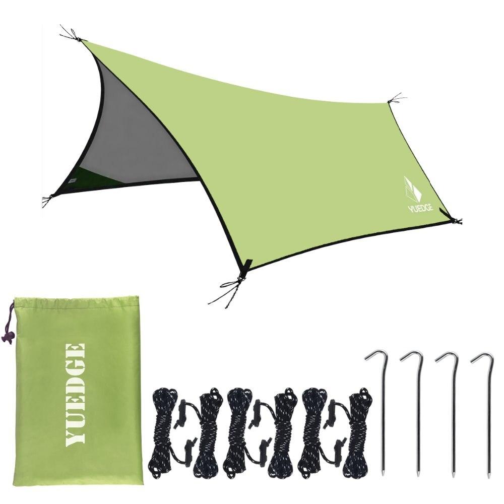 YUEDGE Silber Beschichtung Anti UV Ultraleicht Sun Shelter Pergola Markise Baldachin Camping Sunshelter Regen Plane Zelt Tarp