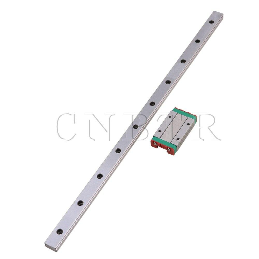 CNBTR 400mm MGN15 Steel Extended Guide Linear Bearing Slide Rails & MGN15H Sliding Block for Precision Measurement Equipment Set food security measurement guide