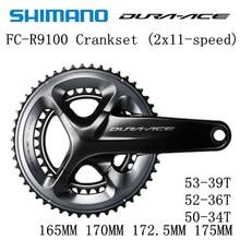 SHIMANO DURA ACE FC R9100 9000 HOLLOWTECH II CRANKSET R9100 Crankset 2x11 Speed 50 34T 52 36T 53 39T 165MM 170MM 172.5MM 175MM