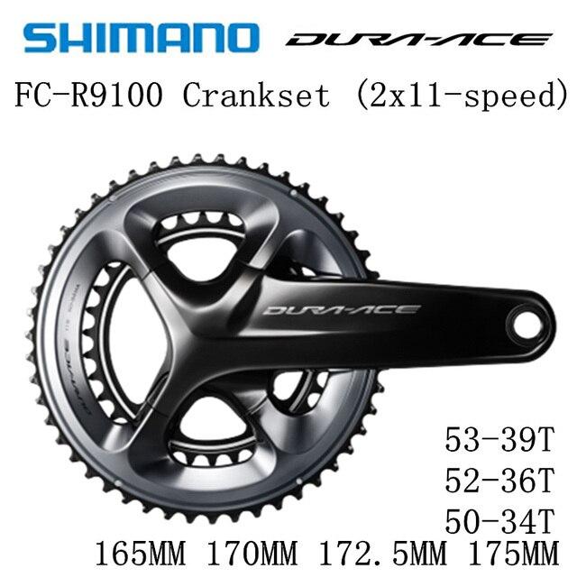 Shimano Dura Ace Fc R9100 9000 Hollowtech Ii Crankstel R9100 Crankstel 2x11 Speed 50 34T 52 36T 53 39T 165 Mm 170 Mm 172.5 Mm 175 Mm